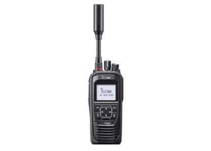 Icom ICSAT100 commercial push to talk over cellular 4g network taxis trucking logistics agriculture security